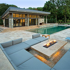 View Modern Pool House in Vienna VA