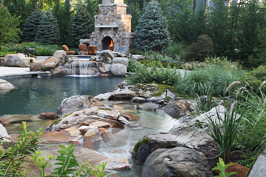 DA9-outdoor-stone-fireplace-waterfall-stream