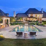 rectangular inground swimming pool and landscape design