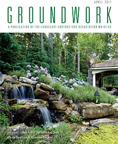 Surrounds Landscaping article in Groundworks Magazine April 2011