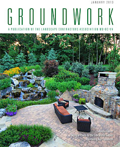Surrounds Landscaping article in Groundworks Magazine Jan 2013