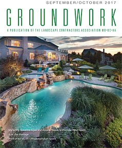 Surrounds Landscaping article in Groundworks Magazine Sept-Oct 2017