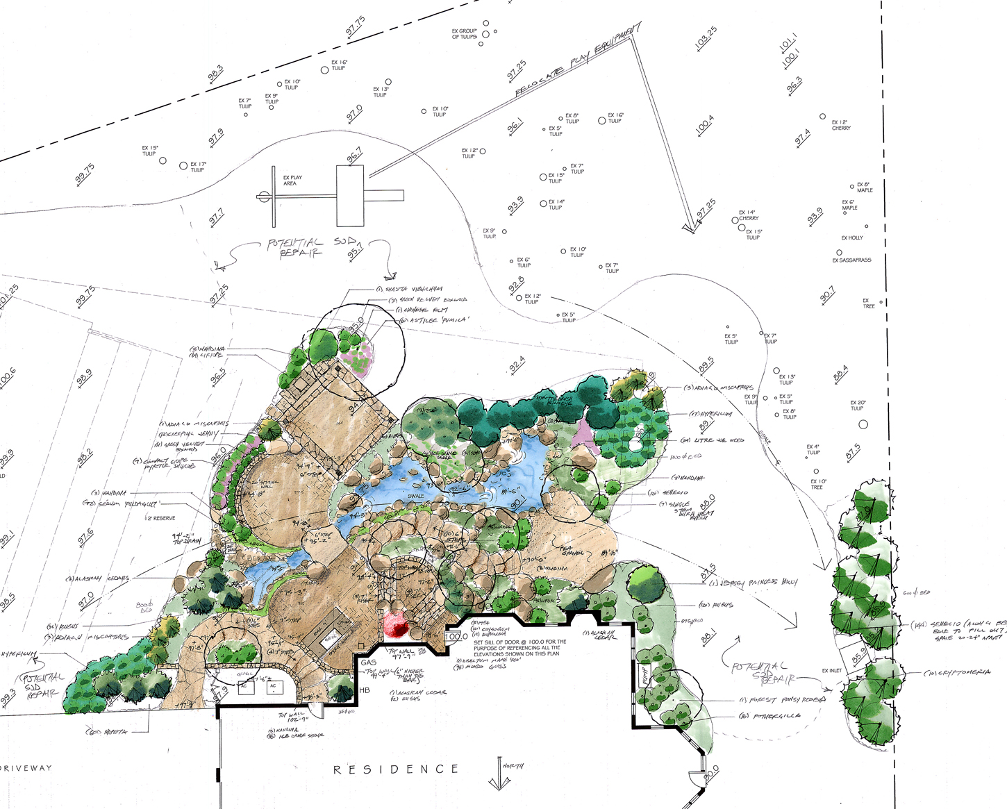 Landscape design site analysis master plan for Landscape design site