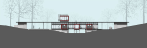 mcinturff home design adapts to landscape of site