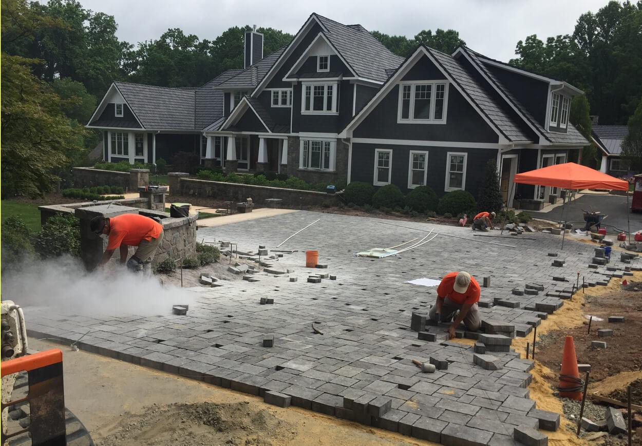 landscape contractor driveway construction in Oakton VA