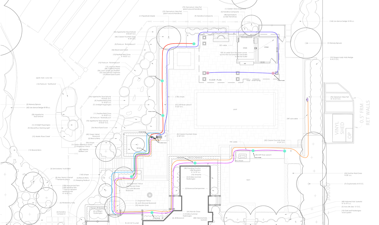 landscape site plan audio design