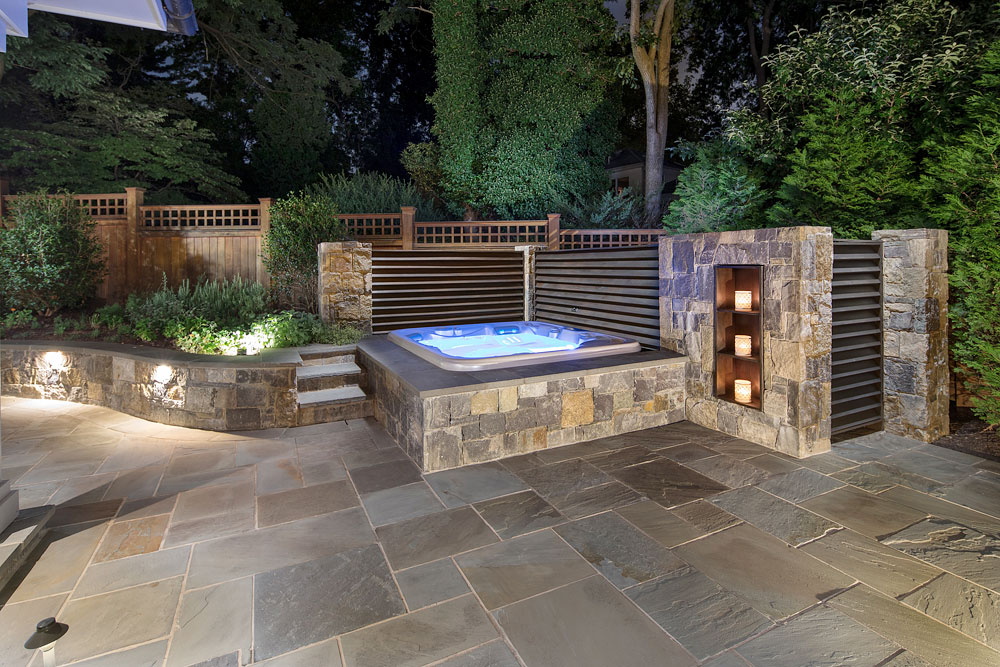 Bethesda Residence backyard spa