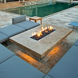 Contemporary style fire pit