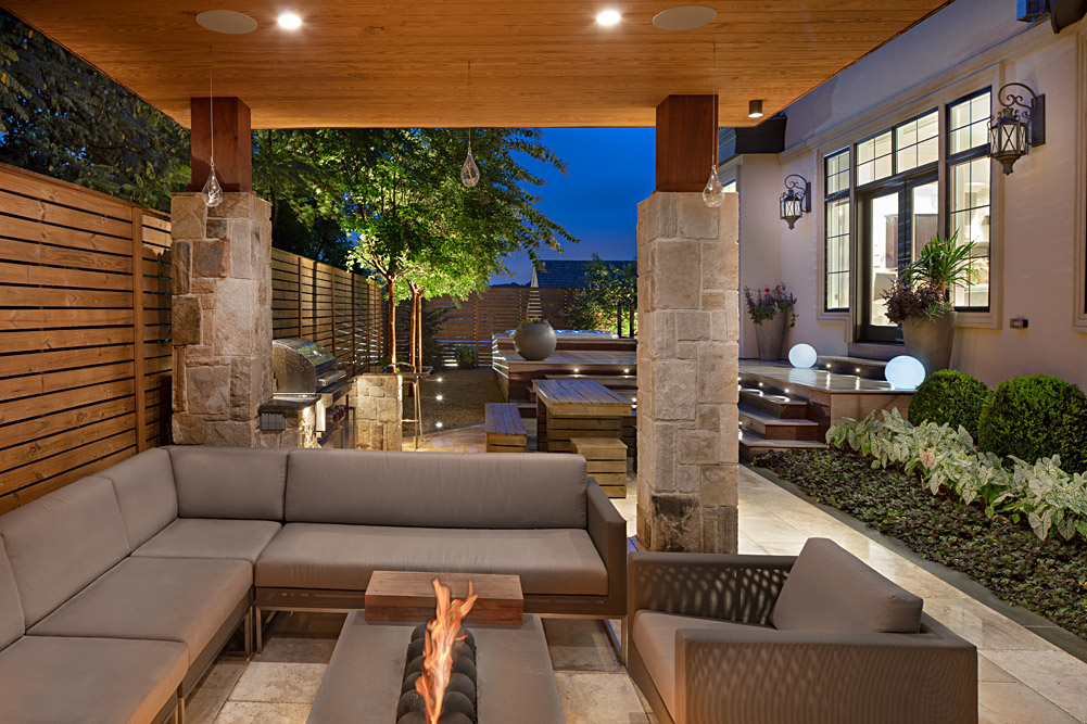Foxhall Residence Backyard with FirePit and Seating
