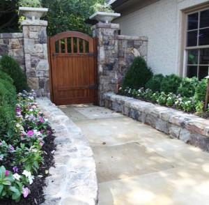 Garden Walkway of stone
