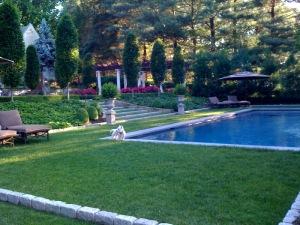 landscape maintenance formal gardens and pool