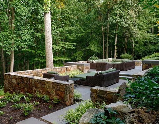 Mclean Virginia Landscape Patio Design Retaining Walls