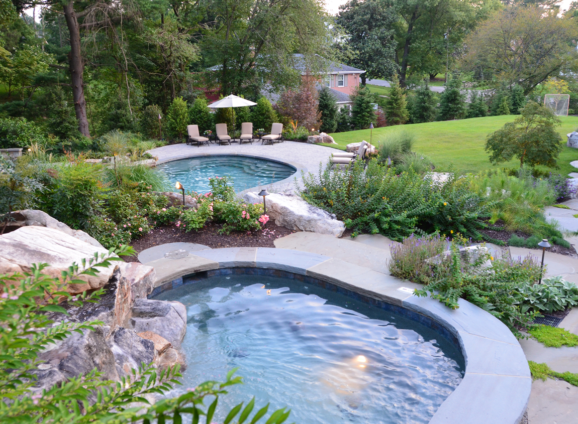 A naturalistic style landscape design in great falls virginia for Pool design virginia