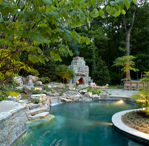 Swimming pool design installation mclean va surrounds for Pool design virginia