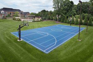 Home basketball court